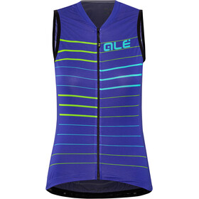 Alé Cycling Solid Ergo Sleeveless Jersey Dame pure blue-turquoise